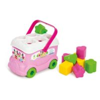 Minnie Bus Inserimento Forme 15x15x22cm  Batterie Incluse / 9 Formine Colorate