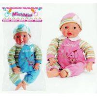 Bambola Mia E Mio H.46cm Corpo Morbido   2 Assortimenti Rosa Celeste In Busta