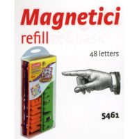 RICAMBI 48 LETTERE MAIUSCOLE MAGNETICHE  13X29X5CM