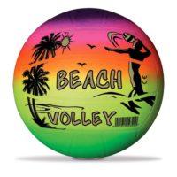 PALLONE BEACH VOLLEY RAINBOW D.216 GR.60 MULTICOLORE C/SCRITTA E DISEGNO        *
