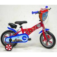 Bicicletta 12' Paw Patrol Con Rotelle    Telaio In Acciaio C/borraccia Plastica