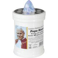 Lumino Elettrico Papa Bianco