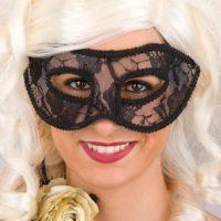 Maschera In Plastica Rigida C/pizzo Nero