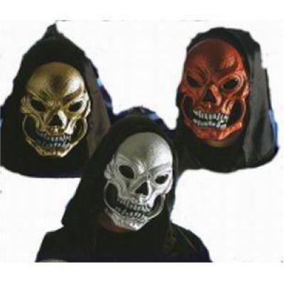 Halloween Maschera Teschio Met.c/capp.