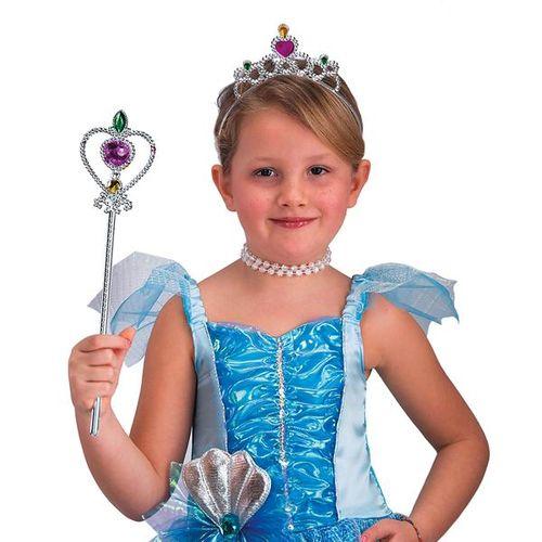 Set Principessa Argento Corona E Scettro