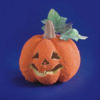 Halloween Zucca Rugosa Con Luce D.12cm   Batterie Incluse