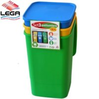 SET 3PZ PATTUMIERA SMART LT. 50CAD.