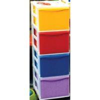 Cassettiera Color 4 Cassetti Alti +ruote 26x35
