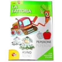Albo Didattico Con Stickers Fattoria     Non Imp. Iva Art.74/c  21x29.7cm 3/6anni