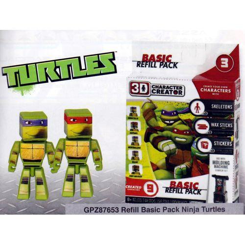 3D REFILL BASIC PACK NINJA TURTLES       20X20X5CM