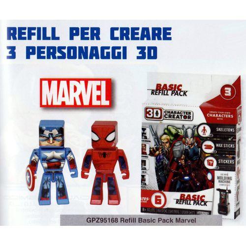 3D REFILL BASIC PACL MARVEL              20X20X5CM