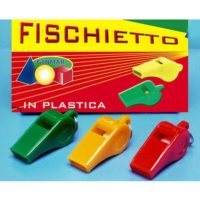 FISCHIETTO PLASTICA C/GANCETTO COL.ASS.