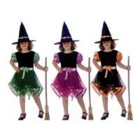 Costume Strega Nastri Colori 5-6 Anni