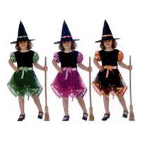 Costume Strega Nastri Colori 7-9 Anni