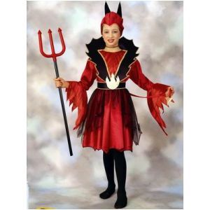 HALLOWEEN COSTUME DEVIL GIRL 4/6 ANNI