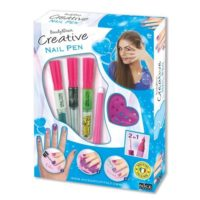 CREATIVE NAIL PEN MEDIUM 19.5X25X3.5CM   C/3 PENNE SMALTO DI COLORI ASSORTITI