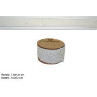 Rotolo Centrino 4cmx3mt Bianco