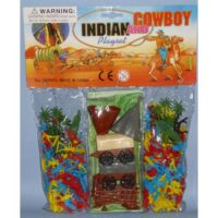 Busta Mini Cowboys Indiani 34x27x5cm +3a
