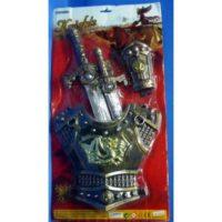 Set Armatura E 2 Spade Con Pettorina 3+  Blister 33x63