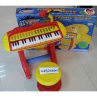 PIANOLA CON SGABELLO E MICROFONO +3ANNI  68X11X47CM