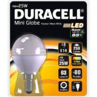 LAMPADINA DURACELL LED SFERA 4W E14 OPAC
