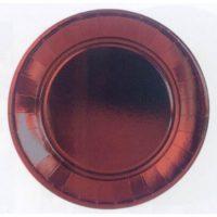 PIATTI cm.23 pz.10 BORDEAUX METAL.