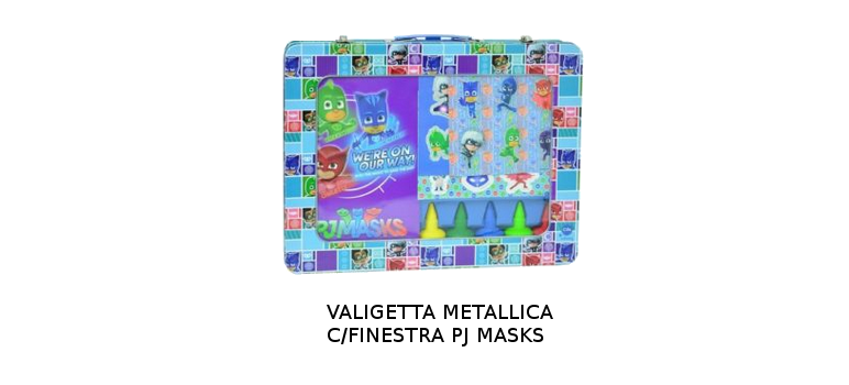 VALIGETTA METALLICA C/FINESTRA PJ MASKS