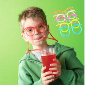 Cannuccia con gli occhiali