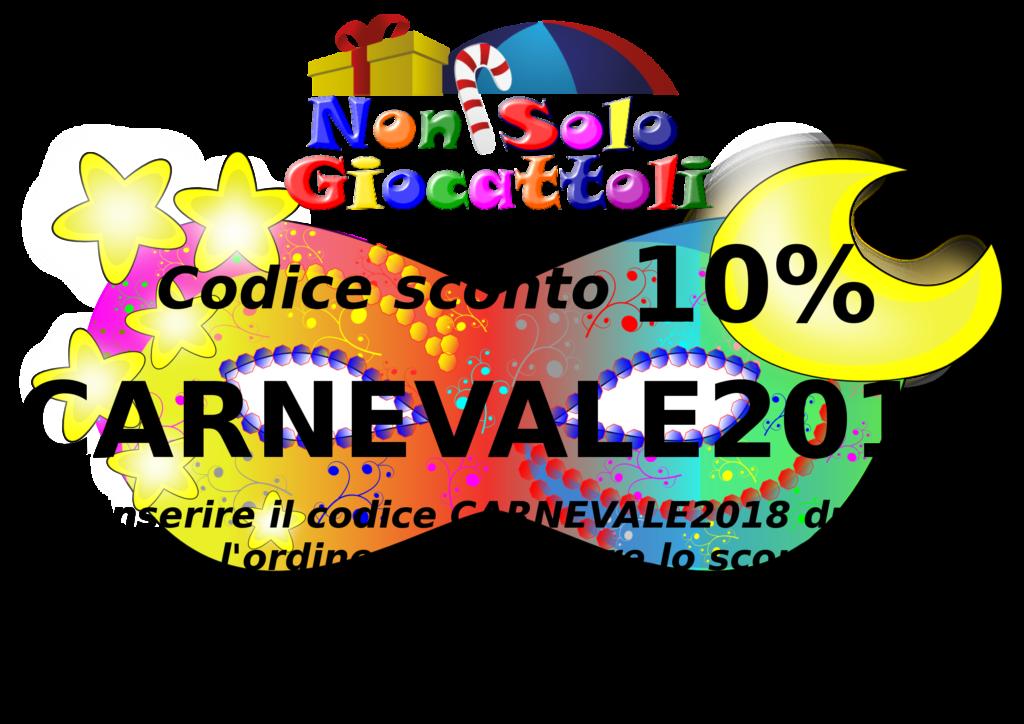 Carnevale 2018 codice sconto