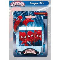 GOMME PER CANCELLARE 3 PZ. SPIDERMAN