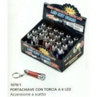 PORTACHIAVI C/TORCIA 6 LED