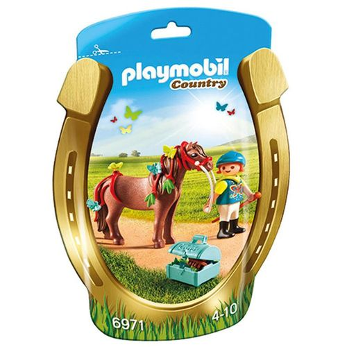 PLAYMOBIL COUNTRY PONY BUTTERFLY+1 PERS+ CAVALLO+ACC.155X235X60MM.