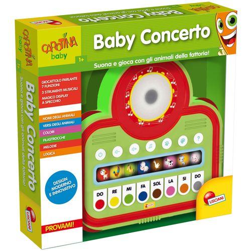 CAROTINA BABY CONCERTO 39X39X6CM +12MESI 50 ATTIVITA'-PILE INCLUSE-MONITOR C/LUCE