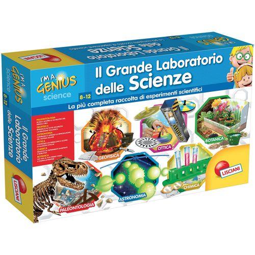 I'M A GENIUS GRANDE LABORATORIO SCIENZE  8/12ANNI-58.8X38.8X9.4CM-6 KIT SCIENTIF.