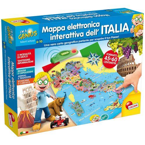 I'M A GENIUS MAPPA ELETTRONICA ITALIA    MAPPA INTERATTIVA-6/10ANNI-50X38.8X6CM