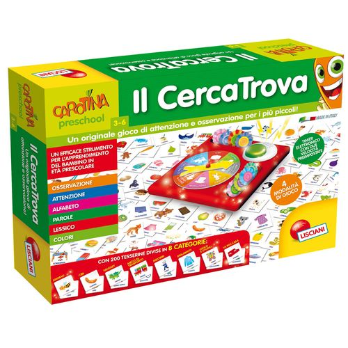 CAROTINA IL CERCATROVA 38.3X28X8CM +3A   TIMER ELETTRONICO-4 SPINNER-200 CARTINE