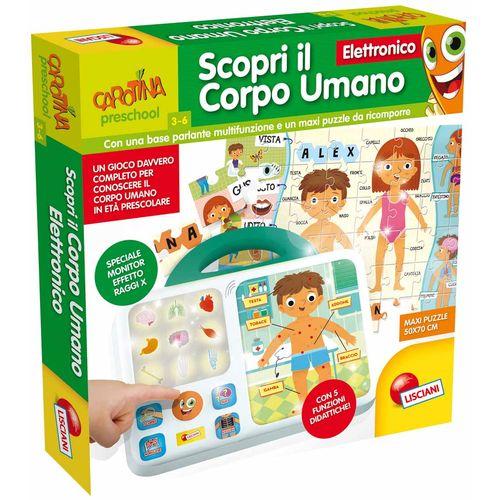 CAROTINA SCOPRI CORPO UMANO ELETTRONICO  39X39X6CM-3/6ANNI-5 FUNZIONI DIDATTICHE