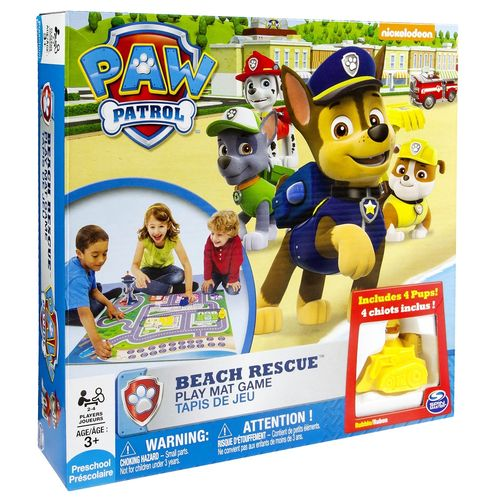Paw Patrol Spiaggia Playmat 27x6x27cm 3+ Tappetino 76x76cm-4pedine-2/4giocatori