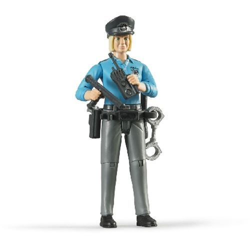 Bruder Policeman Bianco Con Accessori