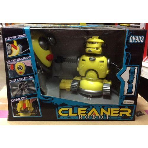 Robot Aspirapolvere R/c Pile Nn Incl.3aa 9volt Con Torcia 3anni+