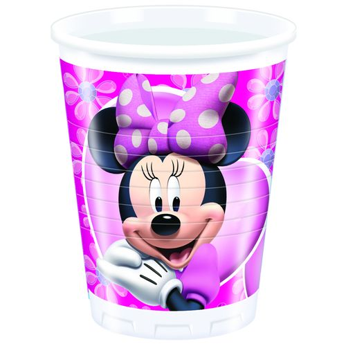 Bicchieri 20cl 10pz Plastica Minnie Pink
