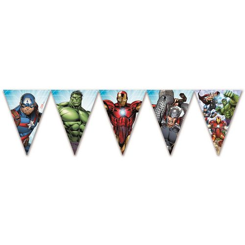 Festone Bandiere Triang. Avengers Mighty