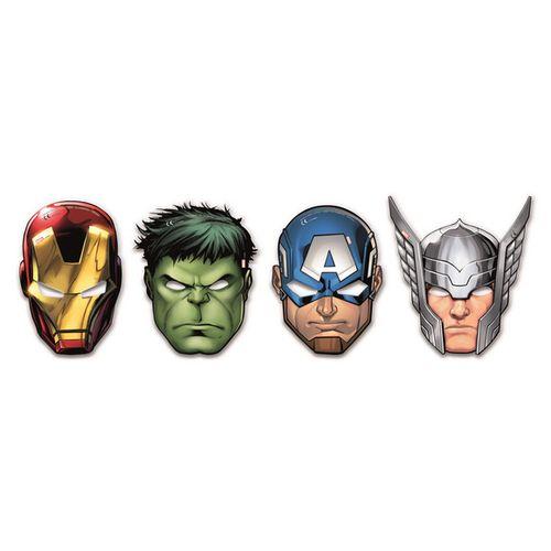 Maschere Avengers Mighty In Busta 6pz
