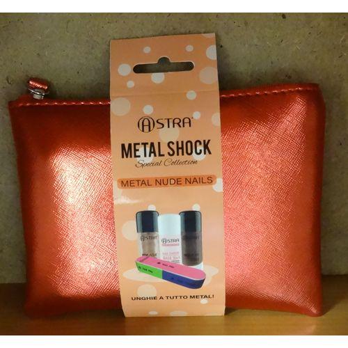 Pochette Metal Nude Nails 15x11cm        Base 3in1+due Smalti+lima Sei Funzioni