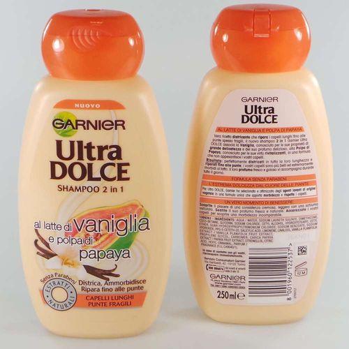 Garnier Shampoo Ultra Dolce 250ml        Latte Di Vaniglia E Polpa Di Papaya