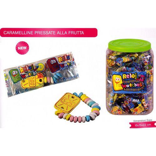 Orologio Candy 14g 7x4cm             60  Caramelline Pressate Alla Frutta