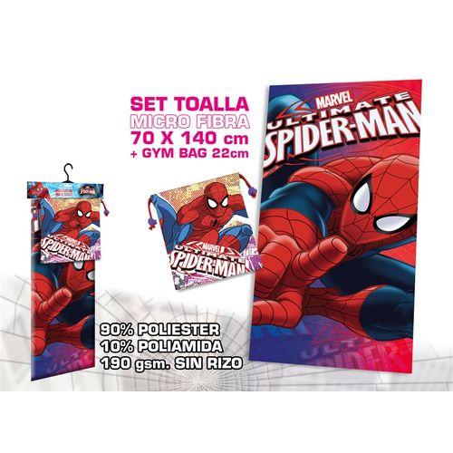 Telo Microfibra C/borsa Regalo Spiderman