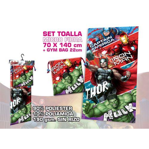 Telo Microfibra C/borsa Regalo Avengers