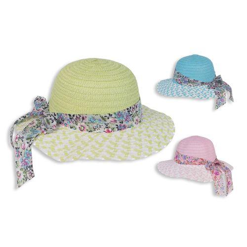 Cappello Bambina C/fiocco In Tessuto     3 Assortimenti