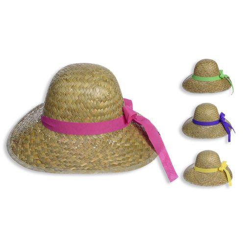 Cappello Paglia C/nastro Colorato 3ass.